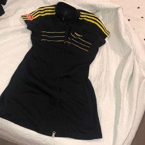 Vintage Adidas zip-up dress